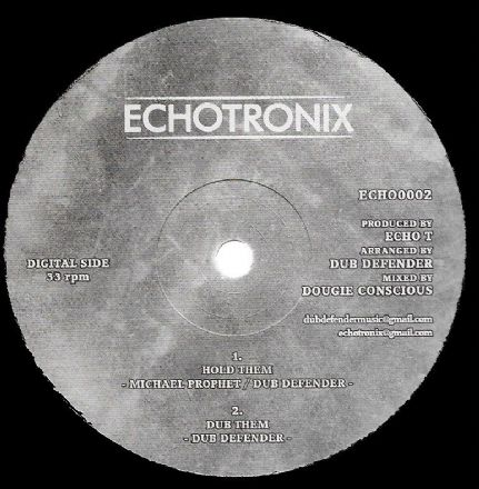 Michael Prophet & Dub Defender - Hold Them / Afrikan Simba - So Important (Echotronix) 10""